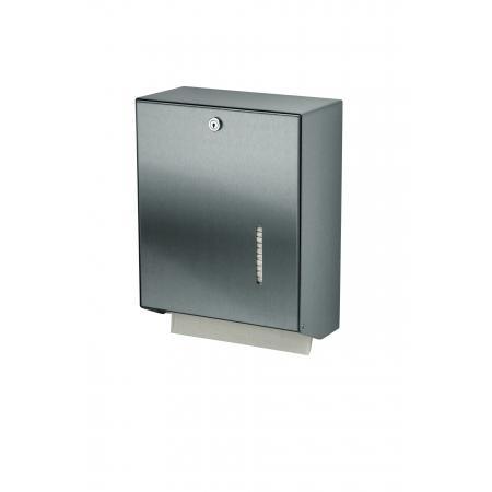 Handdoekdispenser RVS achterplaat en kunststof uitneemplaatje - MediQo-line