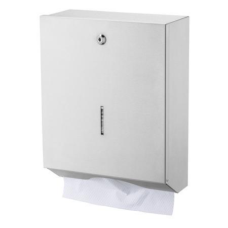 Handdoekdispenser groot RVS - Basicline