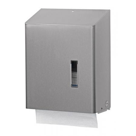 Handdoekdispenser groot RVS anti-fingerprint coating - SanTRAL