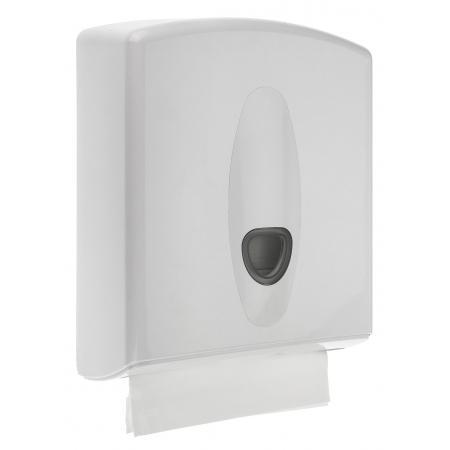 Handdoekdispenser kunststof wit - PlastiQline 2020