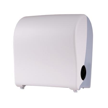 Handdoekroldispenser klein kunststof wit - PlastiQline 2020