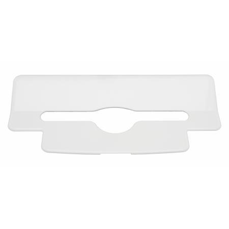 Inlegplaatje handdoekdispenser kunststof Wit - PlastiQline