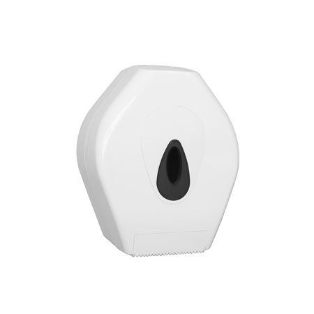 Toiletpapierdispenser Jumbo mini kunststof Wit - PlastiQline