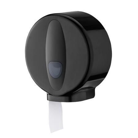 Toiletroldispenser Jumbo mini kunststof zwart - PlastiQline 2020