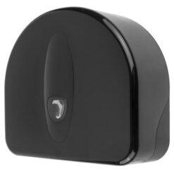 Jumboroldispenser mini met restrol kunststof Zwart - PlastiQline 2020