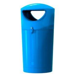 Kunststof buitenafvalbak Metro Hooded 100 liter blauw