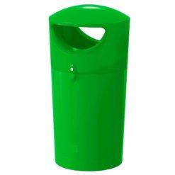 Kunststof buitenafvalbak Metro Hooded 100 liter groen