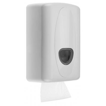 Toiletpapierdispenser bulkpack-tissue kunststof wit - PlastiQline 2020