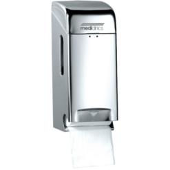 Toiletpapierdispenser 2rol RVS hoogglans - Mediclinics
