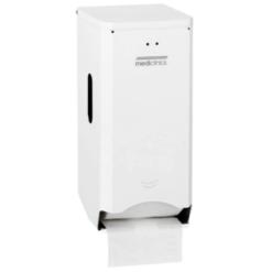Toiletpapierdispenser 2rol Staal Wit Mediclinics