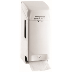 Toiletpapierdispenser 2rol wit Staal - Mediclinics