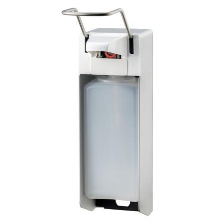 Zeep- & desinfectiemiddeldispenser lange beugel 1000ml aluminium - ingo man - MediQo-line