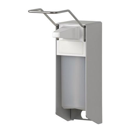 Zeep- & desinfectiemiddeldispenser lange beugel 1000ml aluminium - ingo-man - MediQo-line