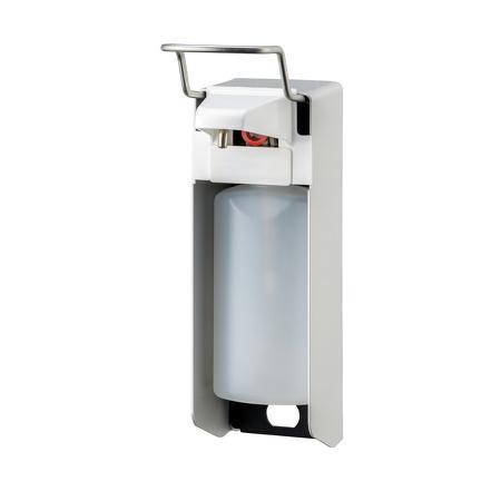 Zeep- & desinfectiemiddeldispenser korte beugel 500ml Aluminium - ingo man - MediQo-line