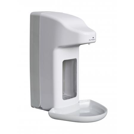 Zeep- & desinfectiemiddeldispenser automatisch 1000 ml kunststof ABS kunststof Wit/Grijs MediQo-line