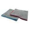 ROVEQ Microvezeldoek 40x40cm – grijs met rode of blauwe rand