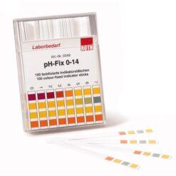 pH indicatorstrips 100 stuks pH 0-14