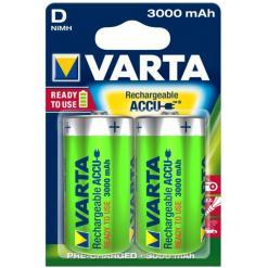 Varta oplaadbaar D - 3000mah blister 2st ( geschikt voor doseerunit)