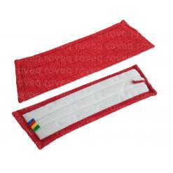 Vlakmop microvezel klittenband velcro 28-45 rood