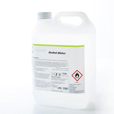 Desinfecterende en ontsmettende alcohol 70% 5 liter navulverpakking