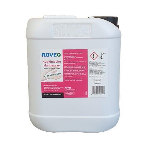 ROVEQ Hygiënische handspray op alcoholbasis 5 liter dispensernavulling