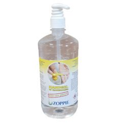 1 liter Handgel alcoholgel 70% alcohol met dispenserpomp