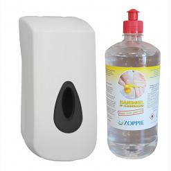 Navulbare dispenser 900ml +1 liter Handgel 70% alcohol
