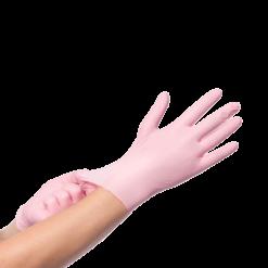 Nitril handschoenen roze 100 stuks maat M