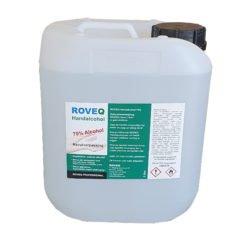 ROVEQ 5 liter handalcohol 70% - liquid - glycerine tegen uitdrogen