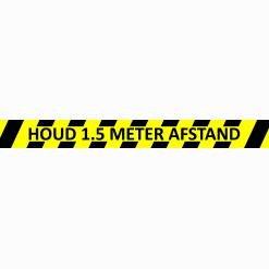 Vloersticker houd afstand 100x10cm antislip indoor