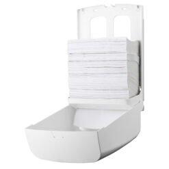 Handdoekdispenser Z en C vouw kunststof Wit - PlastiQline 1