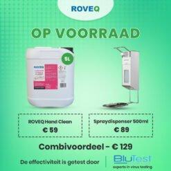 Spraydispenser elleboog korte beugel met of zonder ROVEQ Hand Clean