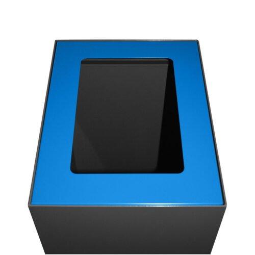 Afvalbak koppelbaar - afvalscheidingsunit - bak 60 liter met blauwe markering