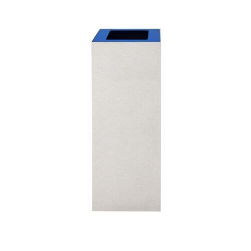 Afvalbak koppelbaar - afvalscheidingsunit - bak 60 liter met blauwe wimarkering