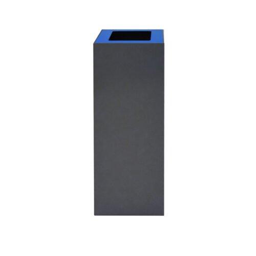 Afvalbak koppelbaar - afvalscheidingsunit - bak 60 liter met blauwe zwmarkering