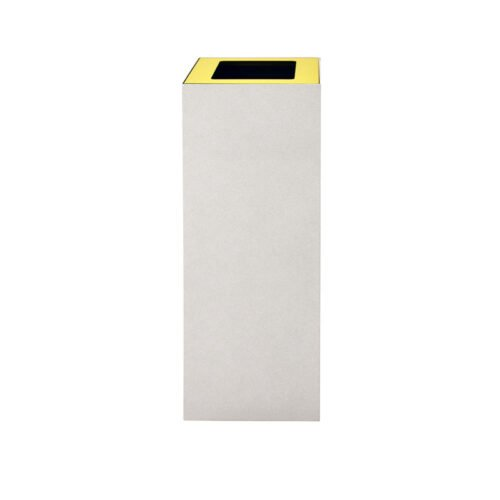 Afvalbak koppelbaar - afvalscheidingsunit - bak 60 liter met gele wimarkering