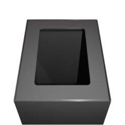 Afvalbak koppelbaar - afvalscheidingsunit - bak 60 liter met grijze markering