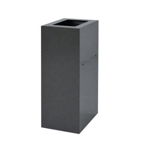 Afvalbak koppelbaar - afvalscheidingsunit - bak 60 liter met grijzezwa markering