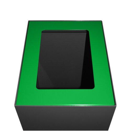 Afvalbak koppelbaar - afvalscheidingsunit - bak 60 liter met groene markering