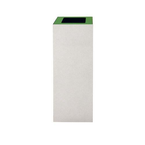 Afvalbak koppelbaar - afvalscheidingsunit - bak 60 liter met groene markering wi