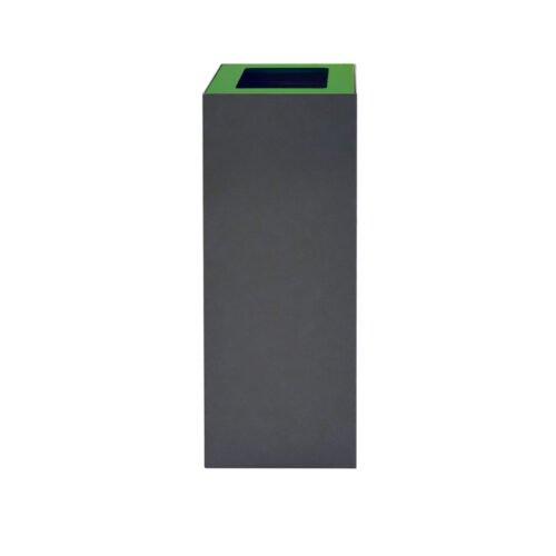 Afvalbak koppelbaar - afvalscheidingsunit - bak 60 liter met groene markering zw
