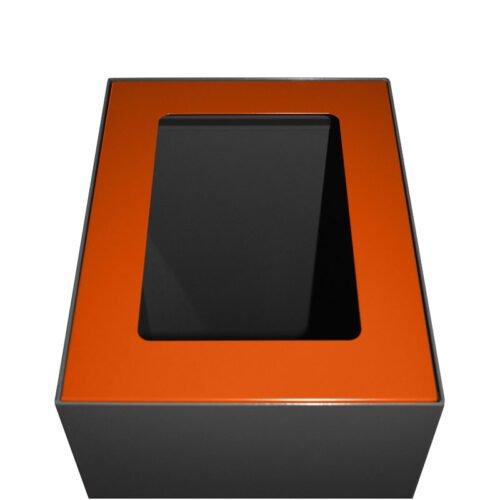 Afvalbak koppelbaar - afvalscheidingsunit - bak 60 liter met oranje markering