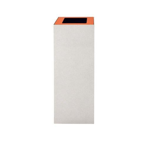 Afvalbak koppelbaar - afvalscheidingsunit - bak 60 liter met oranje markering wi