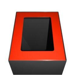 Afvalbak koppelbaar - afvalscheidingsunit - bak 60 liter met rode markering