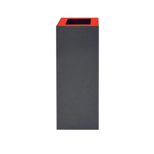 Afvalbak koppelbaar - afvalscheidingsunit - bak 60 liter met rode markering zw