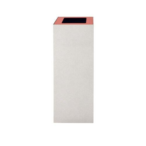 Afvalbak koppelbaar - afvalscheidingsunit - bak 60 liter met rode wimarkering