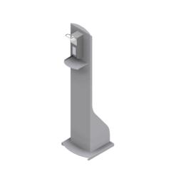 Dispenserzuil RVS met dispenser en navulling met luxe uitstraling