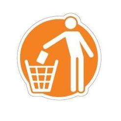 Afval Stickers pictogrammen restafval