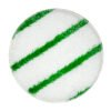 Bonnet pad wit met groene strepen - diverse maten
