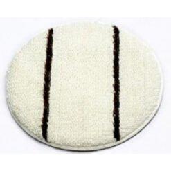 Bonnet pad wit met zwarte strepen - Heavy Duty - diverse maten